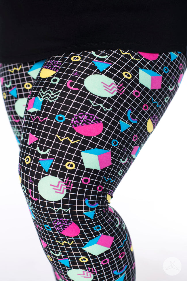 Totally Tubular Plus leggings - SweetLegs