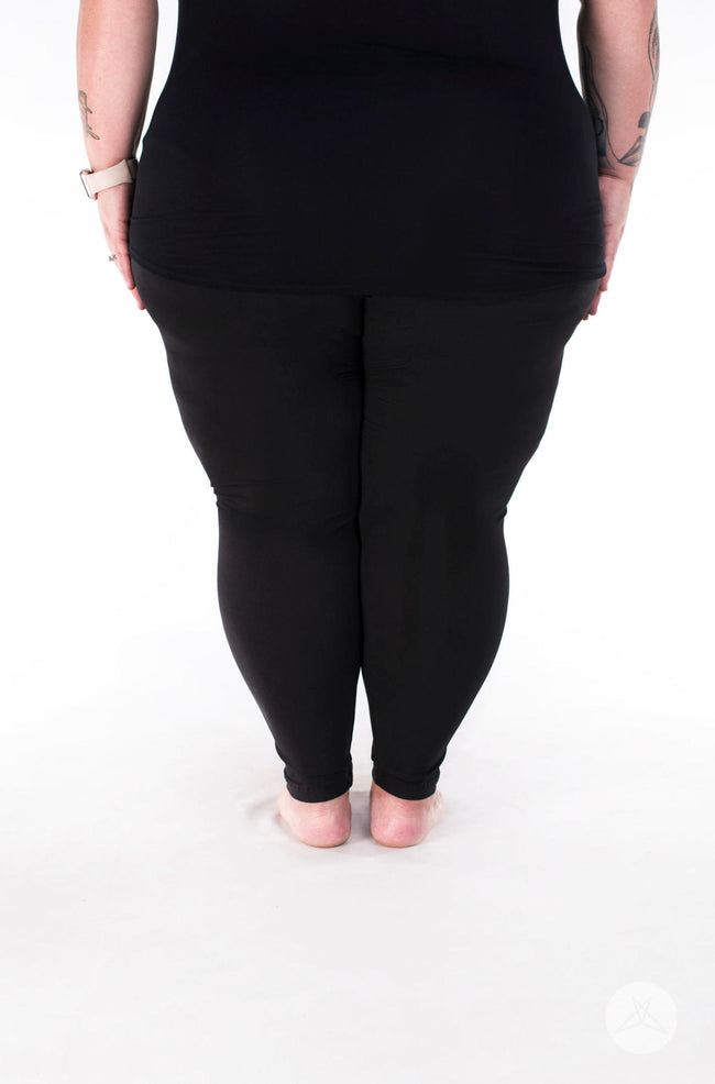 Black Licorice Plus2 leggings - SweetLegs