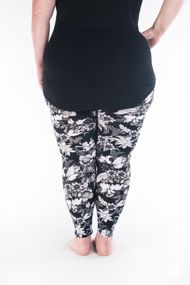 Forget Me Not Plus leggings - SweetLegs
