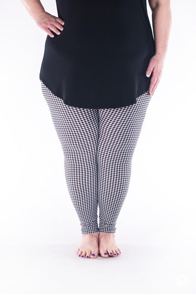 Gingham Style Plus leggings - SweetLegs