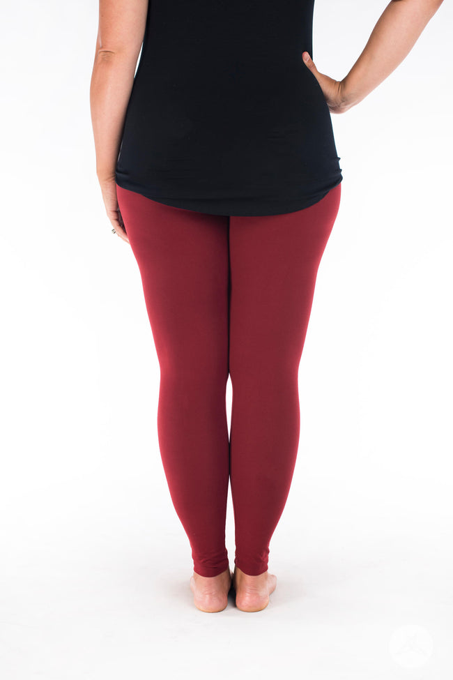 Maroon leggings - SweetLegs