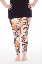 Royal Autumn Plus leggings - SweetLegs