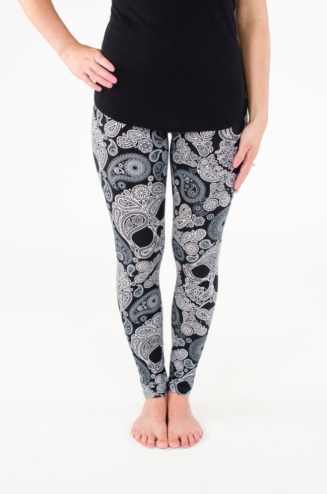 White Calavera Petite leggings - SweetLegs
