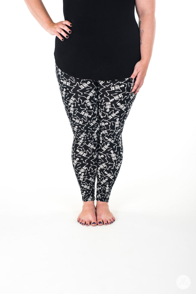 Dem Bones Plus leggings - SweetLegs