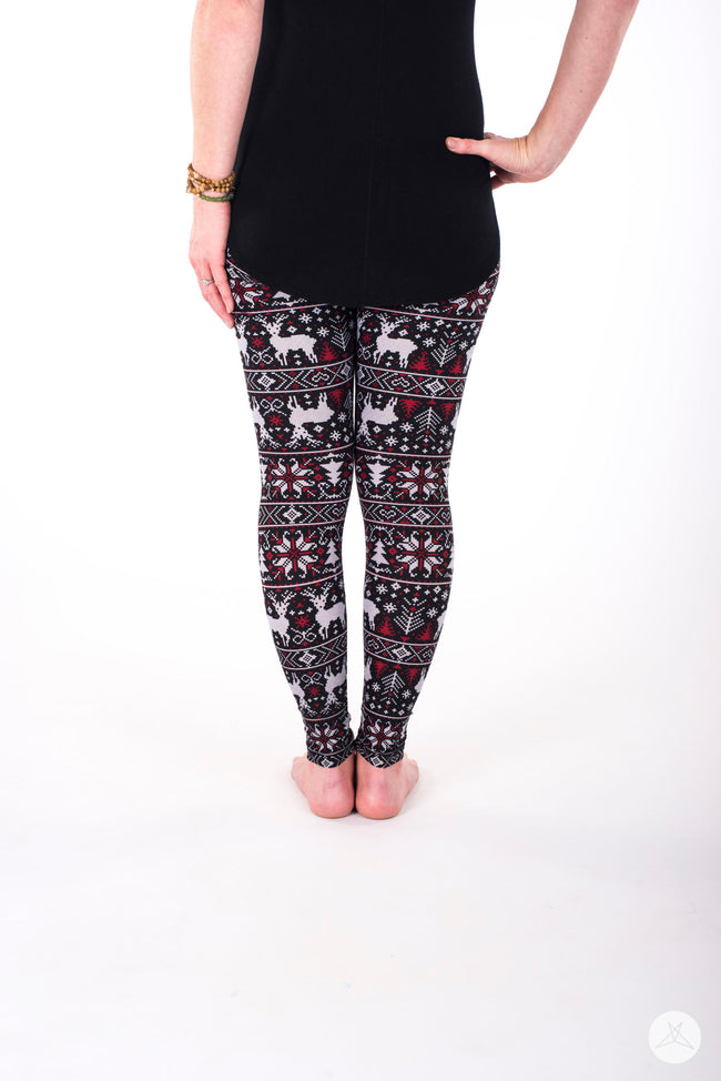 Cranberry and Spice Petite leggings - SweetLegs