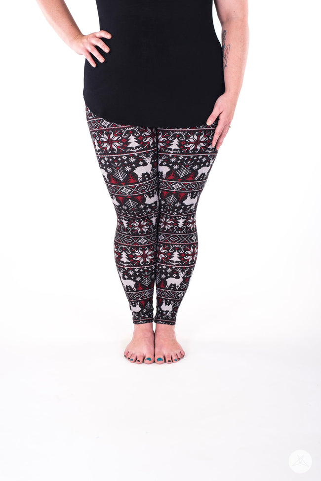 Cranberry and Spice Plus leggings - SweetLegs