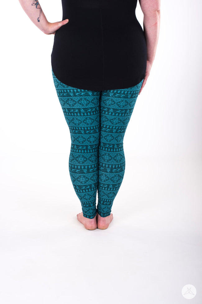 Sleigh Ride Plus leggings - SweetLegs