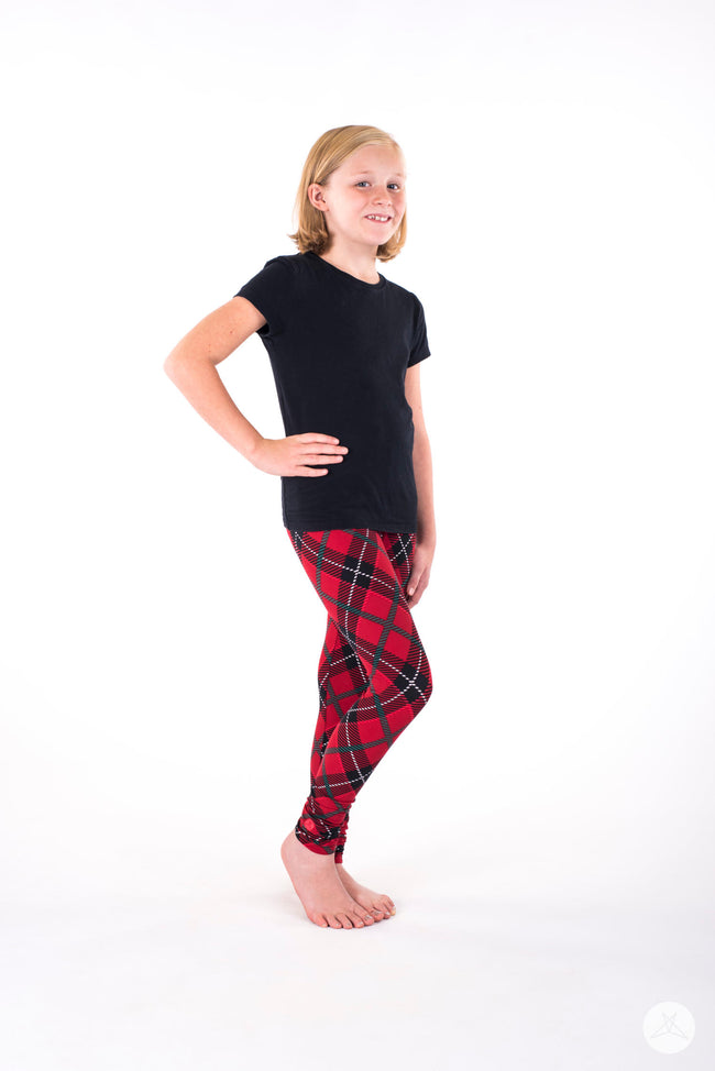 Perfectly Plaid Kids leggings - SweetLegs