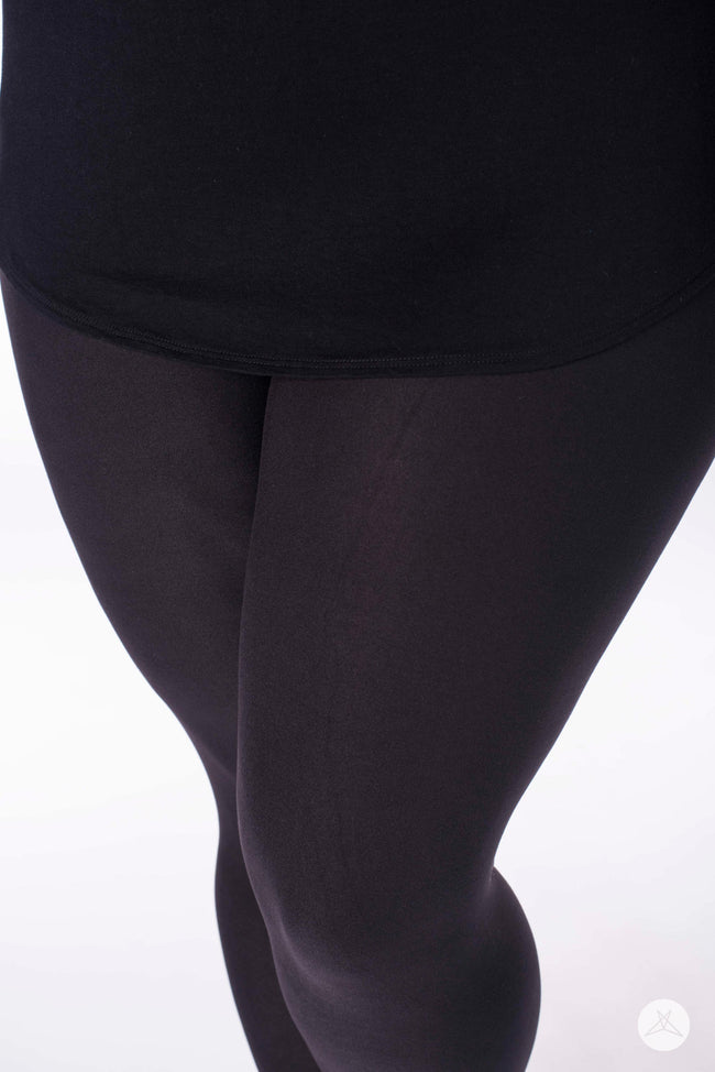 Black Licorice Plus leggings - SweetLegs