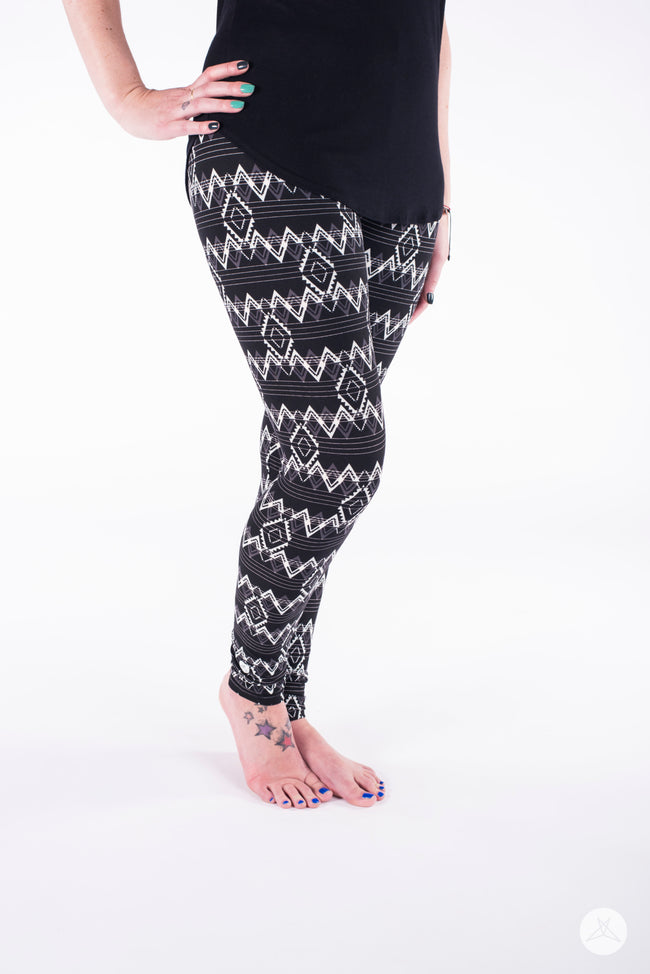 White Noise leggings - SweetLegs