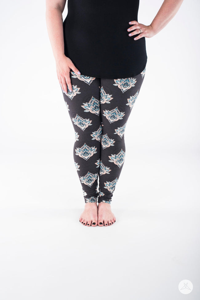 Morning Bliss Plus leggings - SweetLegs