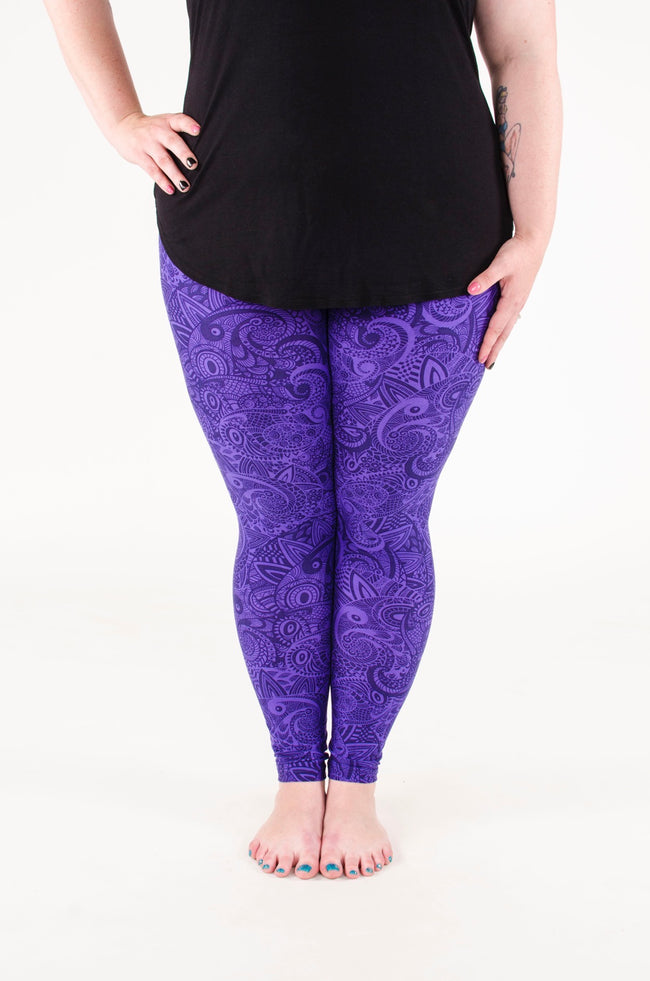 Indigo Daze Plus leggings - SweetLegs