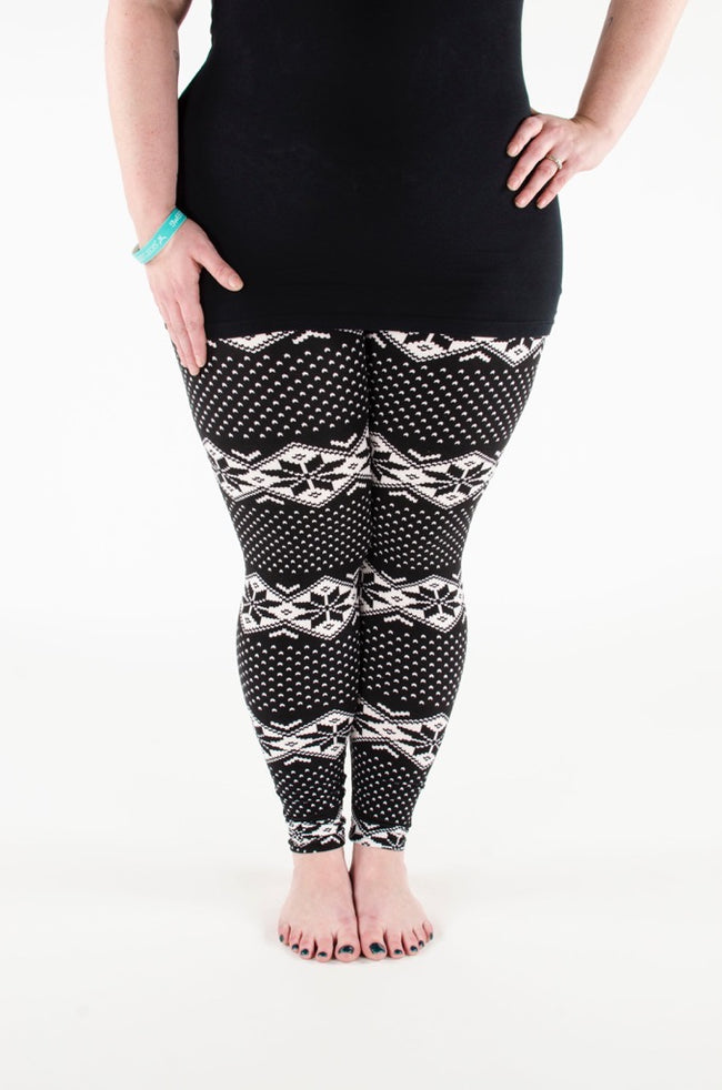Night Fall Plus leggings - SweetLegs