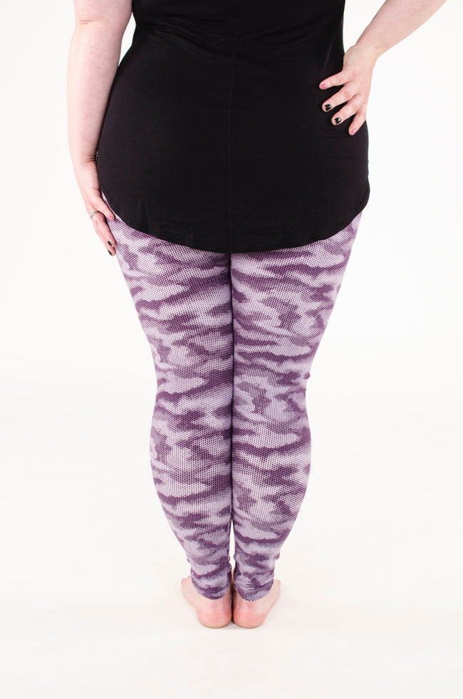 Purple Rain Plus leggings - SweetLegs