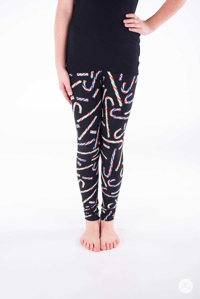 Candy Cane Lane Kids leggings - SweetLegs