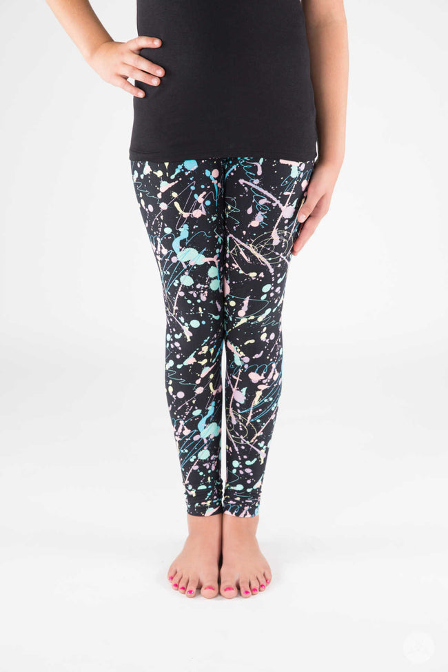 Pastel Splash Kids leggings - SweetLegs