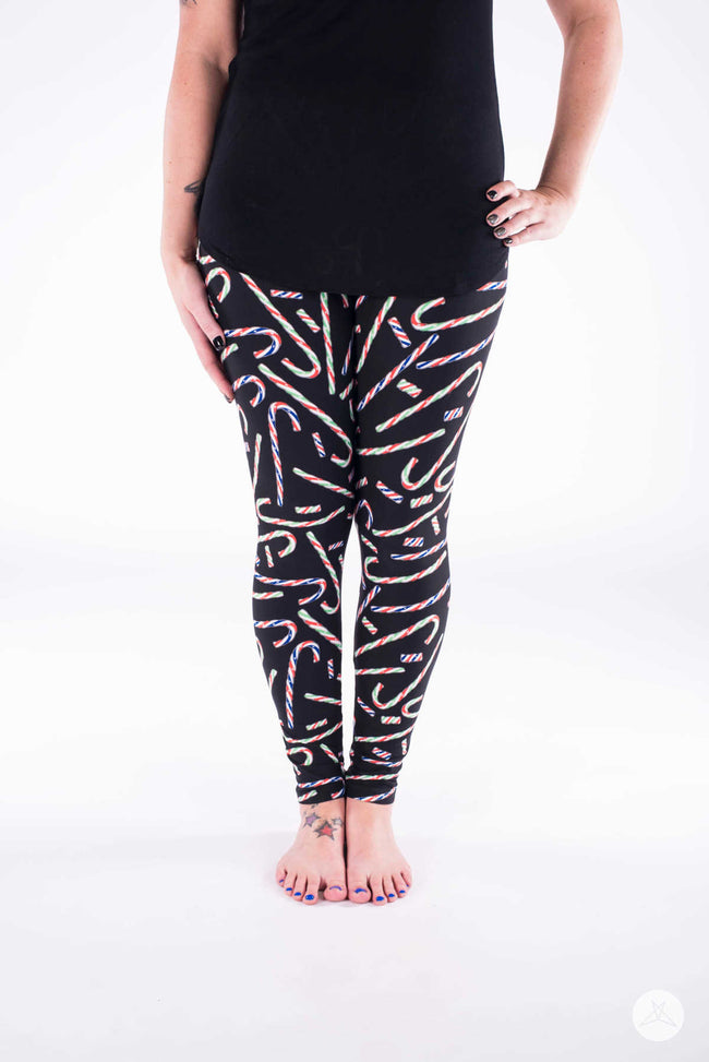 Candycane Lane leggings - SweetLegs