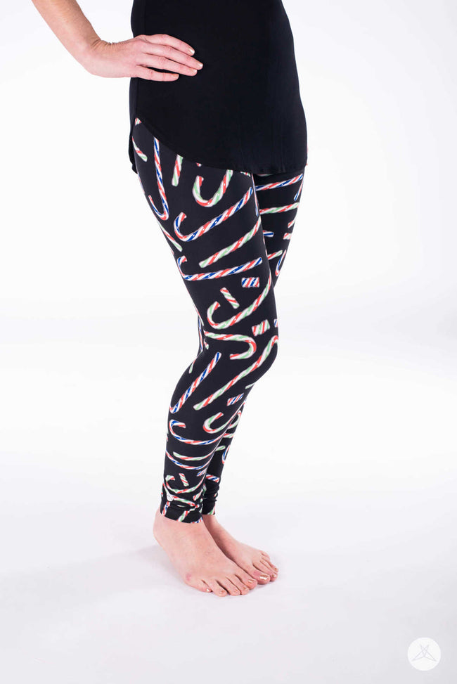 Candycane Lane Petite leggings - SweetLegs