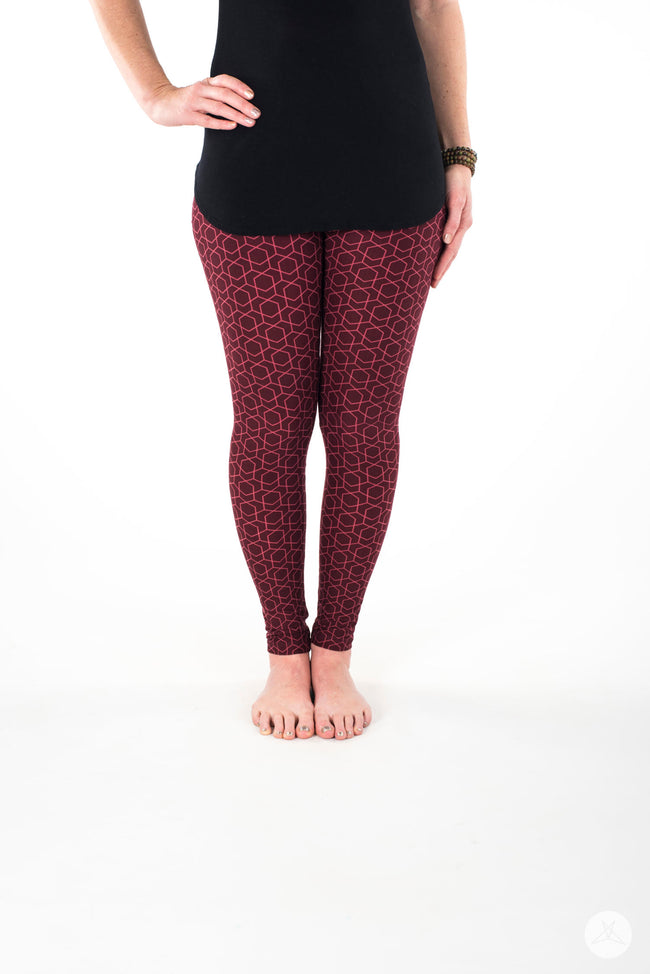 Red Velvet Petite leggings - SweetLegs