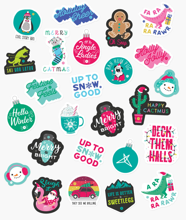 Holiday Season 25pc Sticker Pack