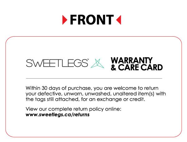 100 Care Cards leggings - SweetLegs