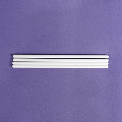 8'' Set of 4 White Dowels 200mm