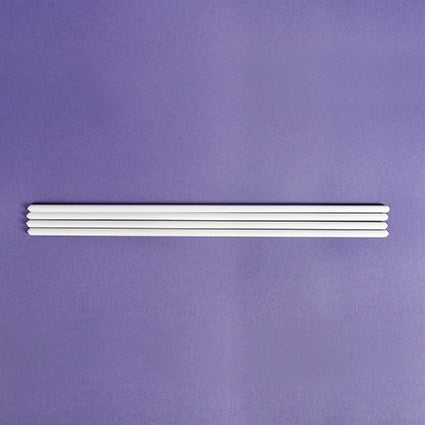 12'' Set of 4 White Dowels 300mm