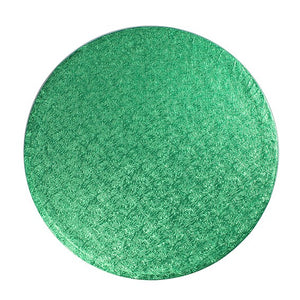 Round Green Cake Boards