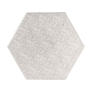 Hexagon Silver Cake Boards