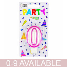 Number Pink Party Candle