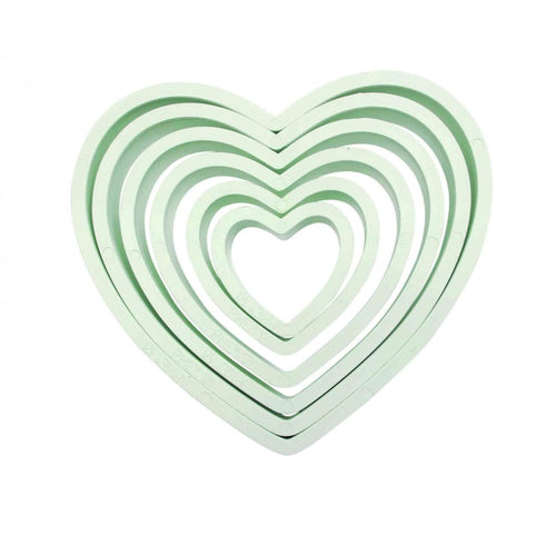 Set of 6 Heart Cutters