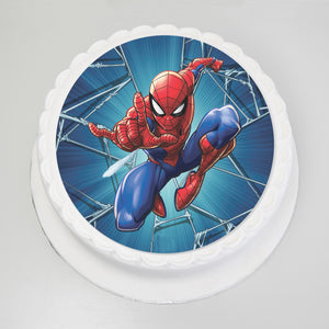 "Spiderman 8"" Inch Sponge Cake"