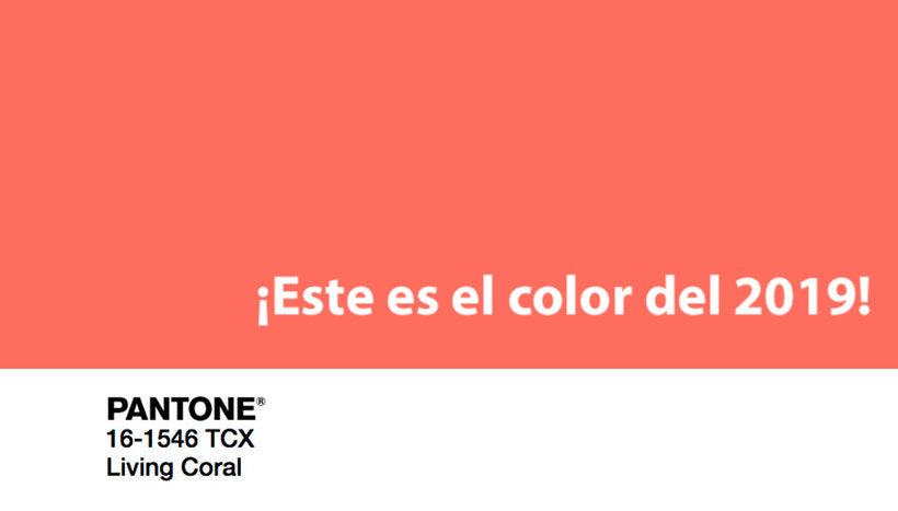"""Coral Vivo"": el color del 2019"