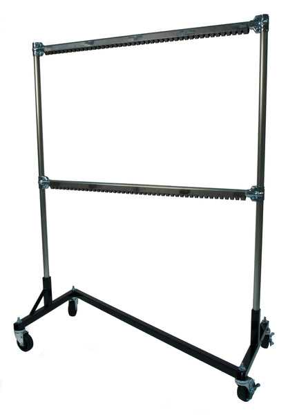 Powder Coating Rack, Heat Resistant to 500° F, 4-ft Base, 5-ft Uprights, 2 Rails