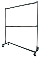 Powder Coat Oven Rack, 5-ft Z Base, 7-ft Uprights, Heat Resistant, 2 Rails