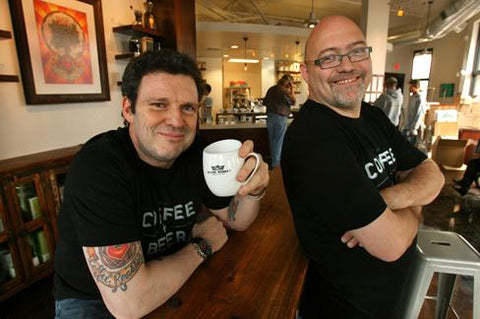 Jeff Taylor and Fred Polzin of PT's Coffee