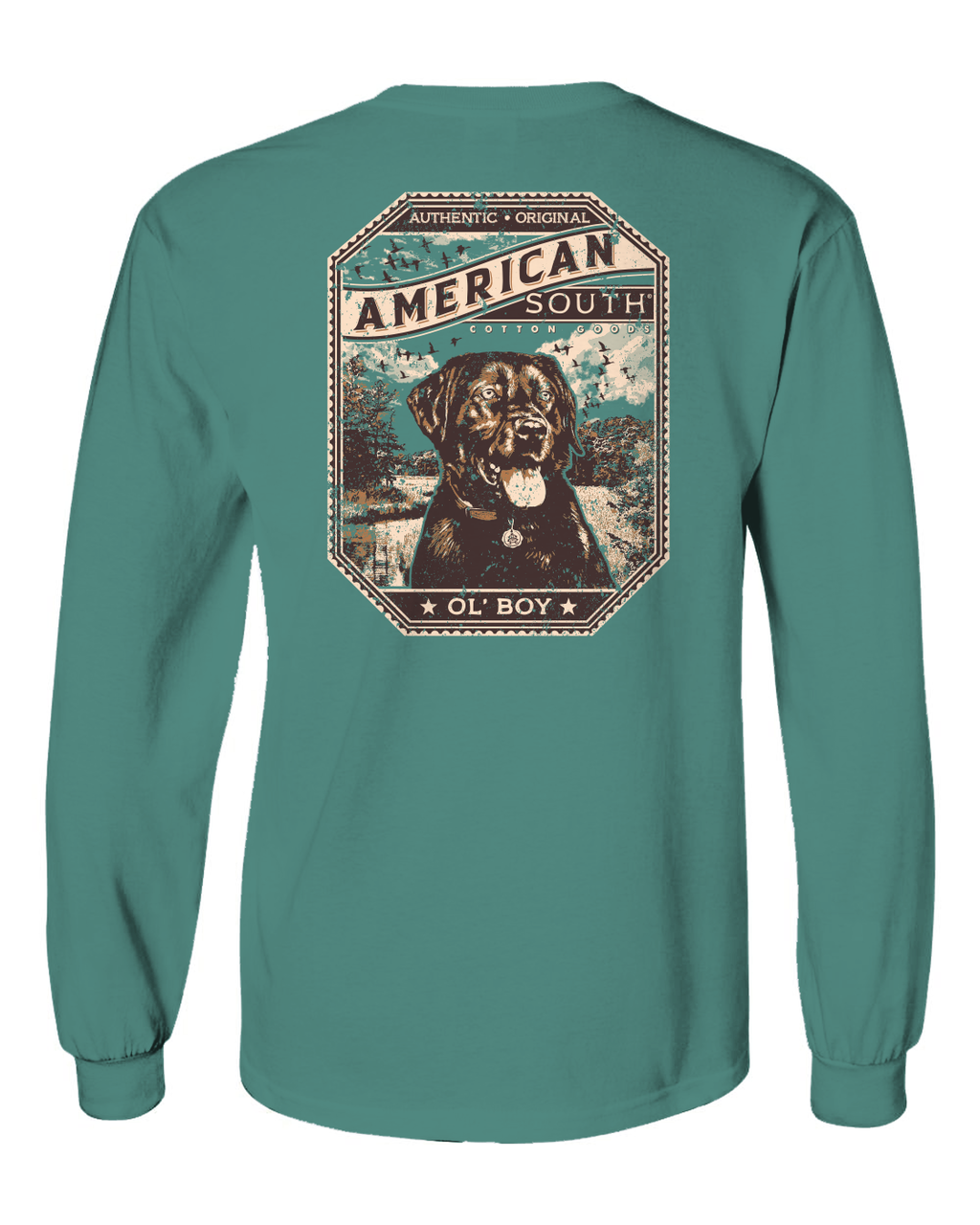 American South - Ol' Boy- Lab - Long Sleeve tee