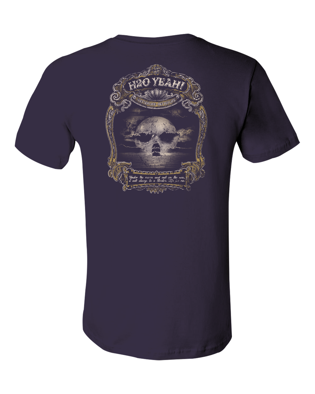 H2o Yeah! Pirate Skull Moon tee