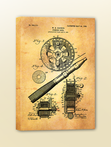 Antique Patent Drawing: Fly Reel
