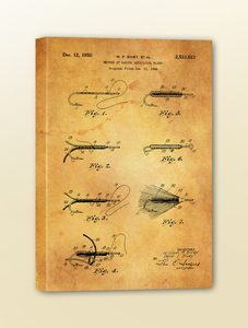 Antique Patent Drawing: Fly Tying