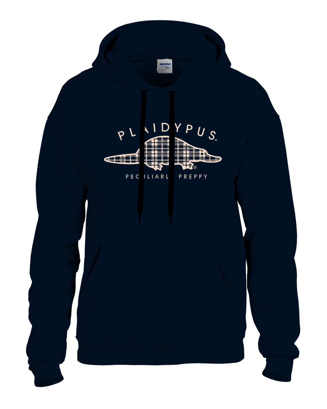 AVAILABLE NOW! Plaidypus Logo Hooded Pullover Sweat