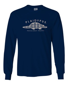 AVAILABLE NOW! Plaidypus Longsleeve Tee