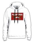AVAILABLE NOW! Plaidypus 'Plaidpatch' Hooded Pullover sweat