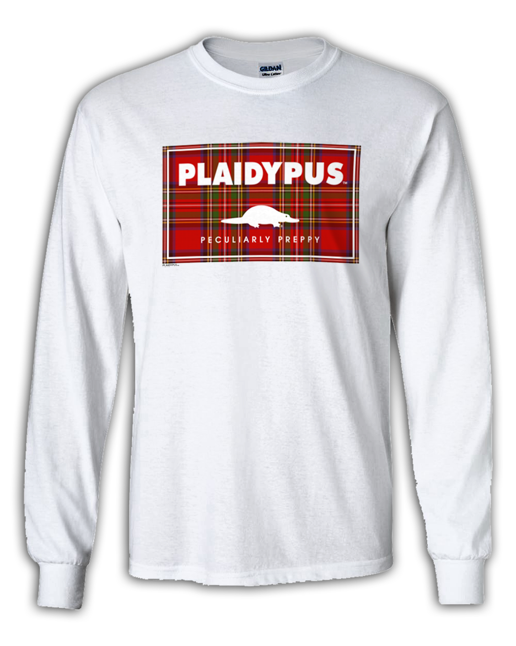 AVAILABLE NOW! Plaidypus 'PlaidPatch' Longsleeve Tee