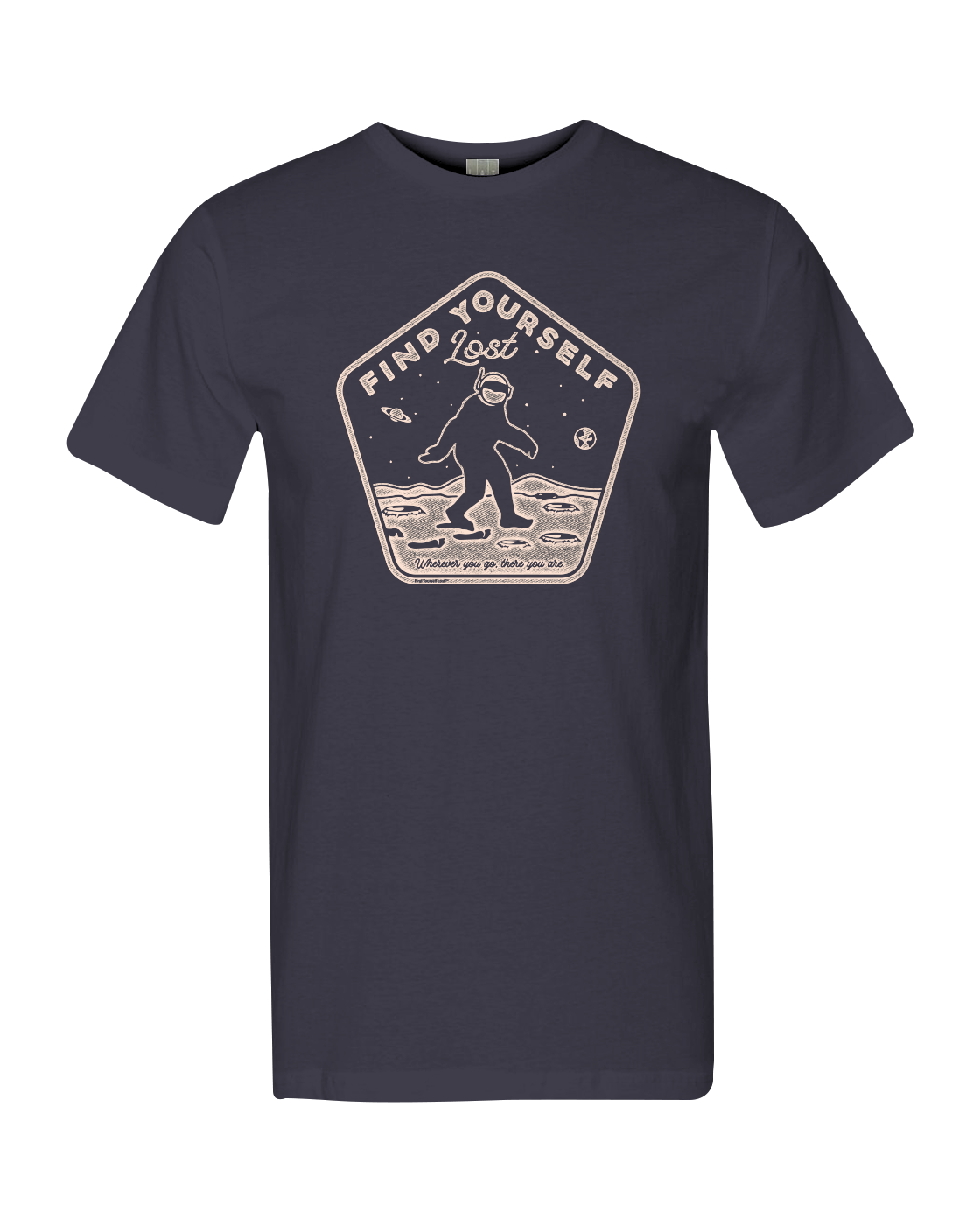 Find Yourself Lost ~ Bigfoot in Space tee