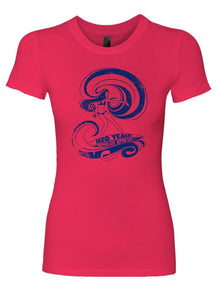 H2o Yeah! Women's Retro Surfer Girl women's tee