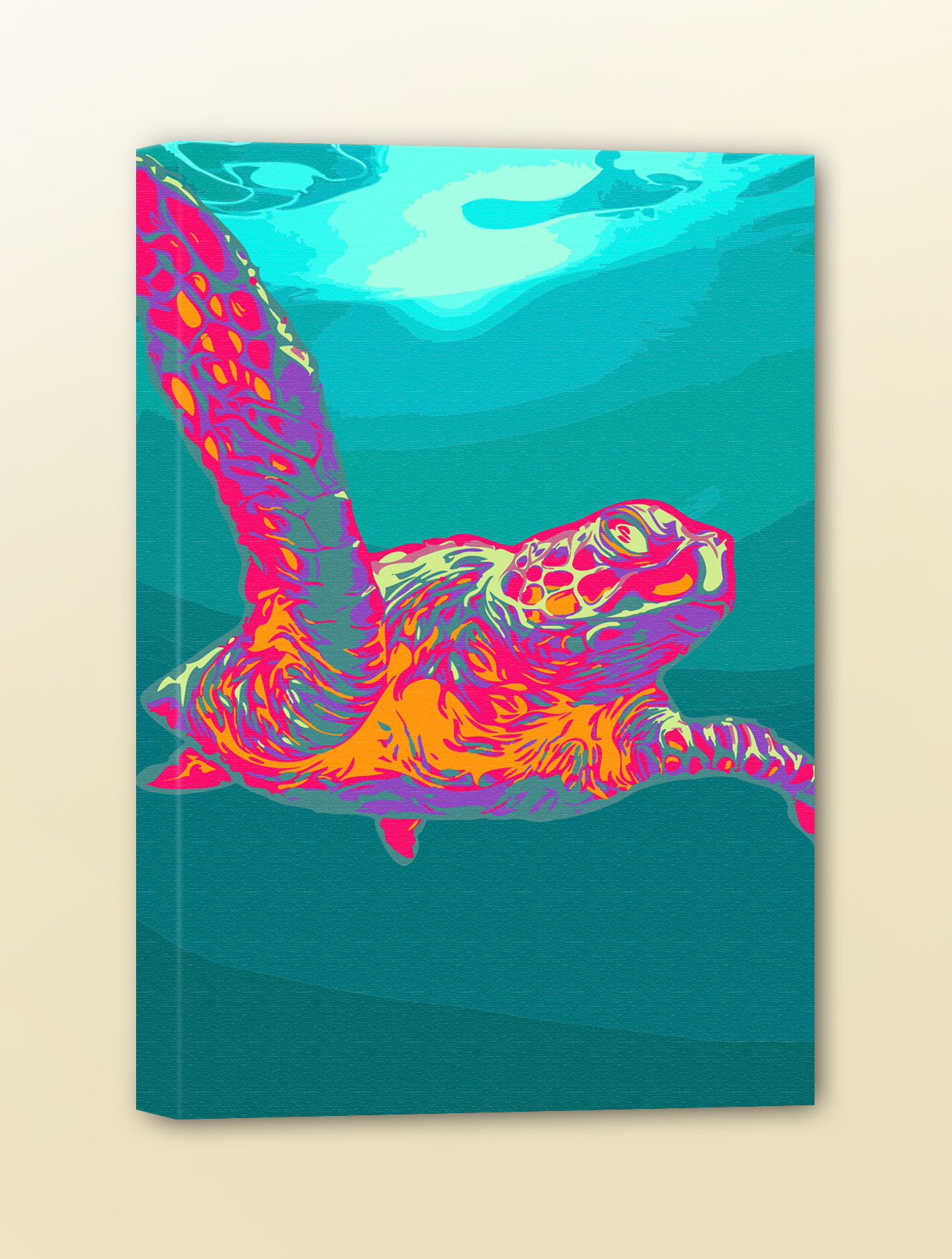 Sea Turtle Pop Art