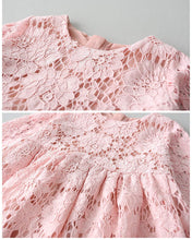 2BUNNIES Girl Holly Scallop Lace Flower Girl Dress (Pink)