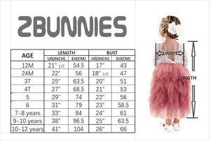 2BUNNIES Girl Peony Lace Back 5 Tiered Long Sleeve Maxi Dress (Ivory)