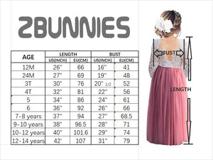 2BUNNIES Girl Peony All Lace Long Sleeve Maxi Straight Dress (White)